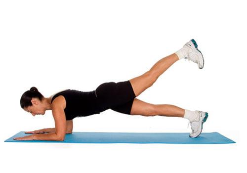 Single-leg plank