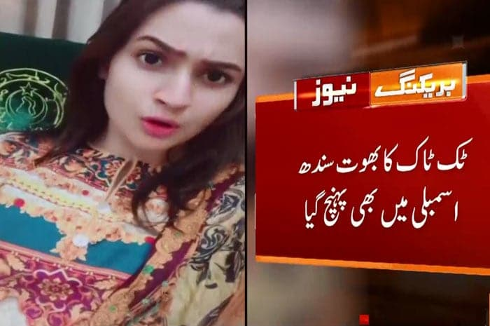 MPA's sister makes TikTok Video in Sindh Assembly