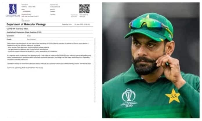 Cricketer Mohammad Hafeez Corona Test was First positive then Negative