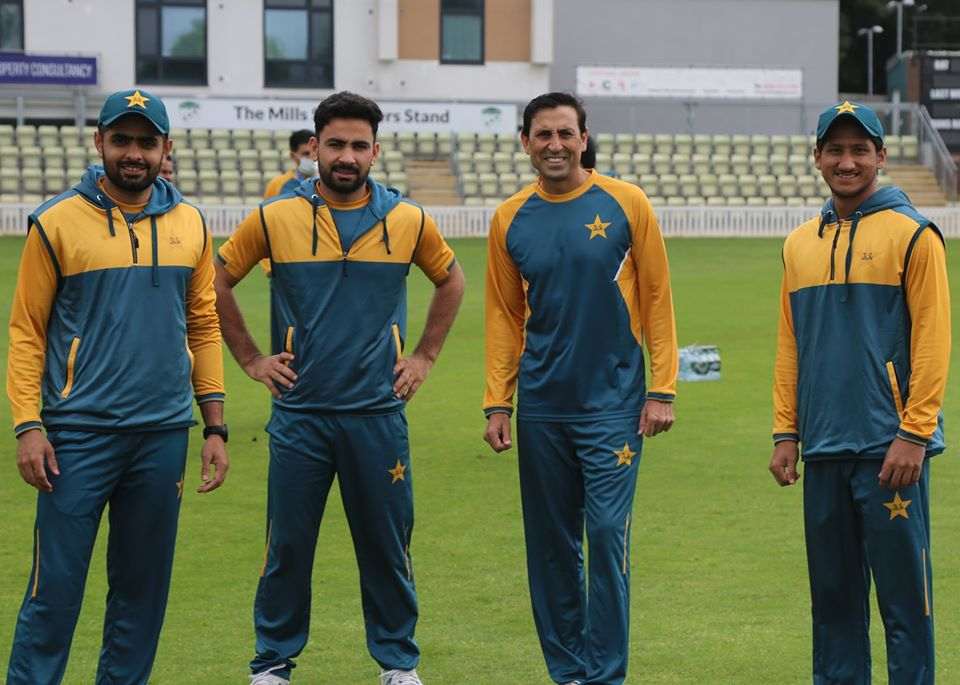 Pakistan Cricket Team in Practicing in England without sponsors logo on kit