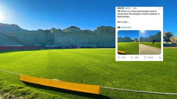 ICC Shares a Gawadar Cricket Stadium Picture On Social Media