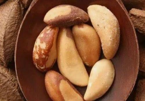 Brazil Nuts in wood spoon