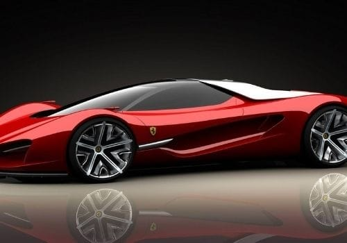 Red Ferrari Pininfarina Sergio ( $10 Million)