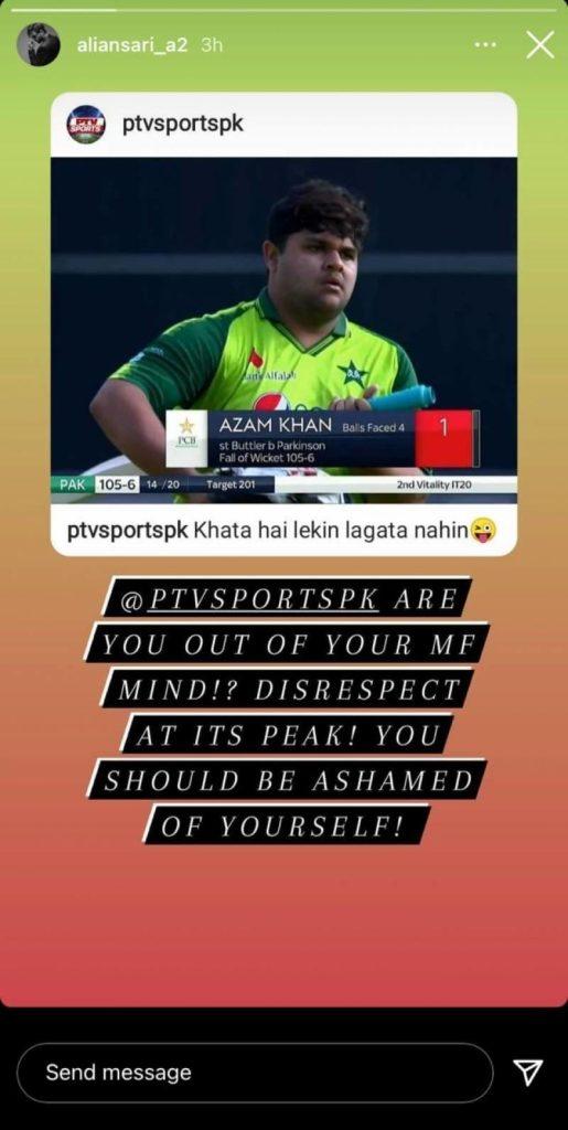 Ali Ansari PTV Sports For Body Shaming